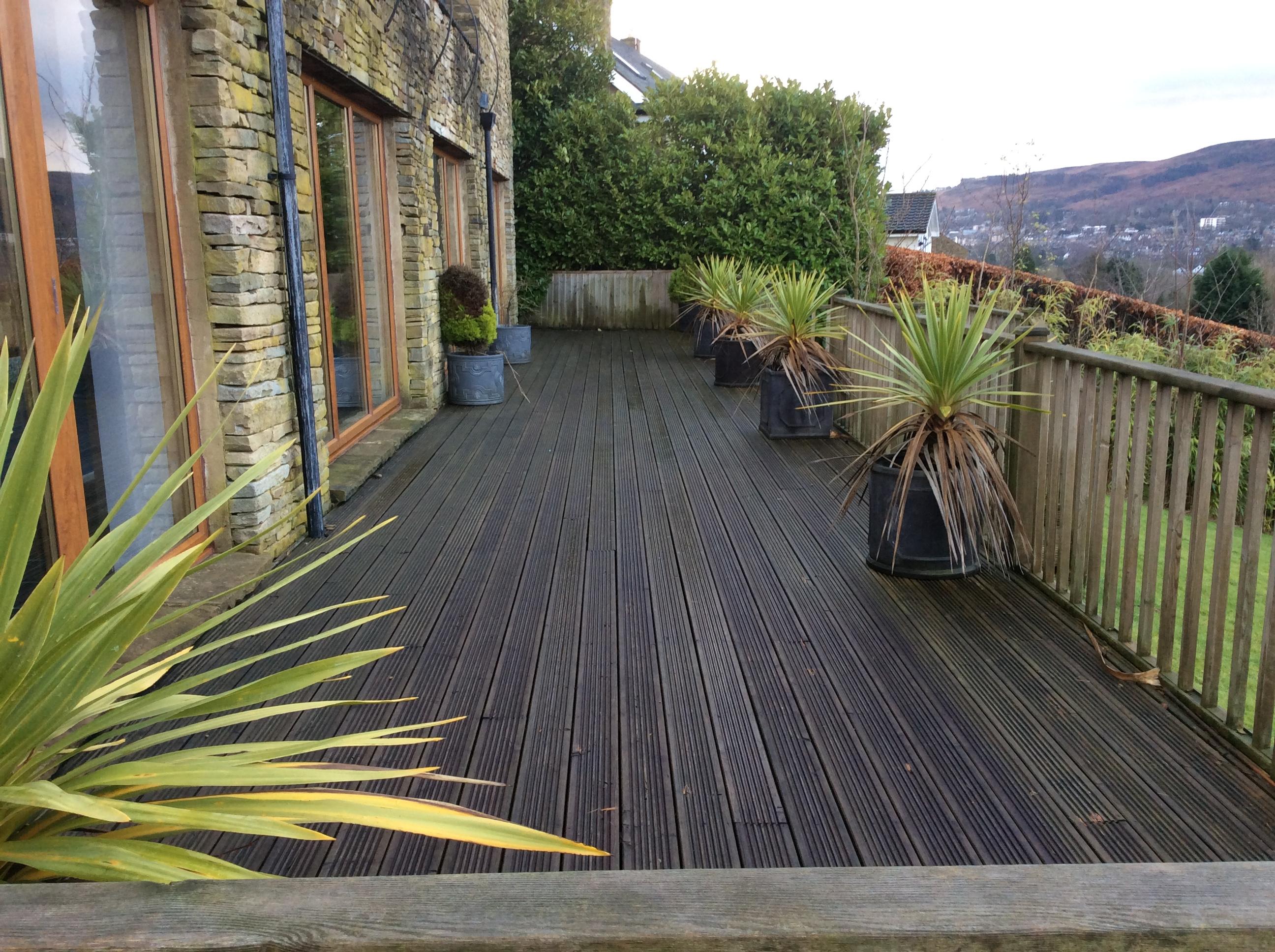 Wooden Decking Clean Ilkley