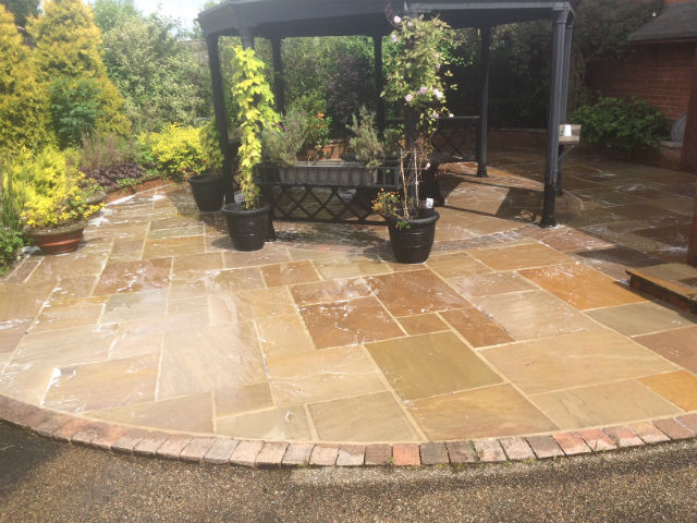 Driveway & Patio Cleaning carried out in Leeds